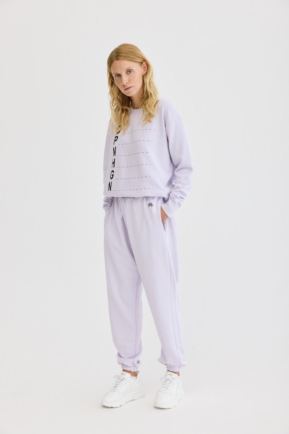 CPH Sweatpants 1 org. cotton lavender