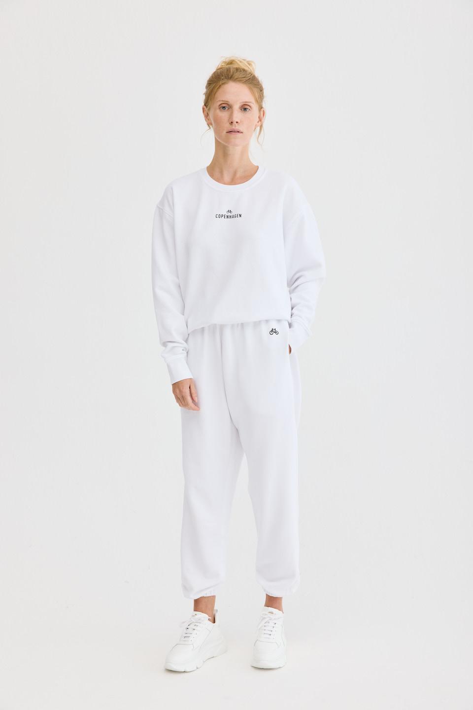 CPH Sweatpants 1 org. cotton white