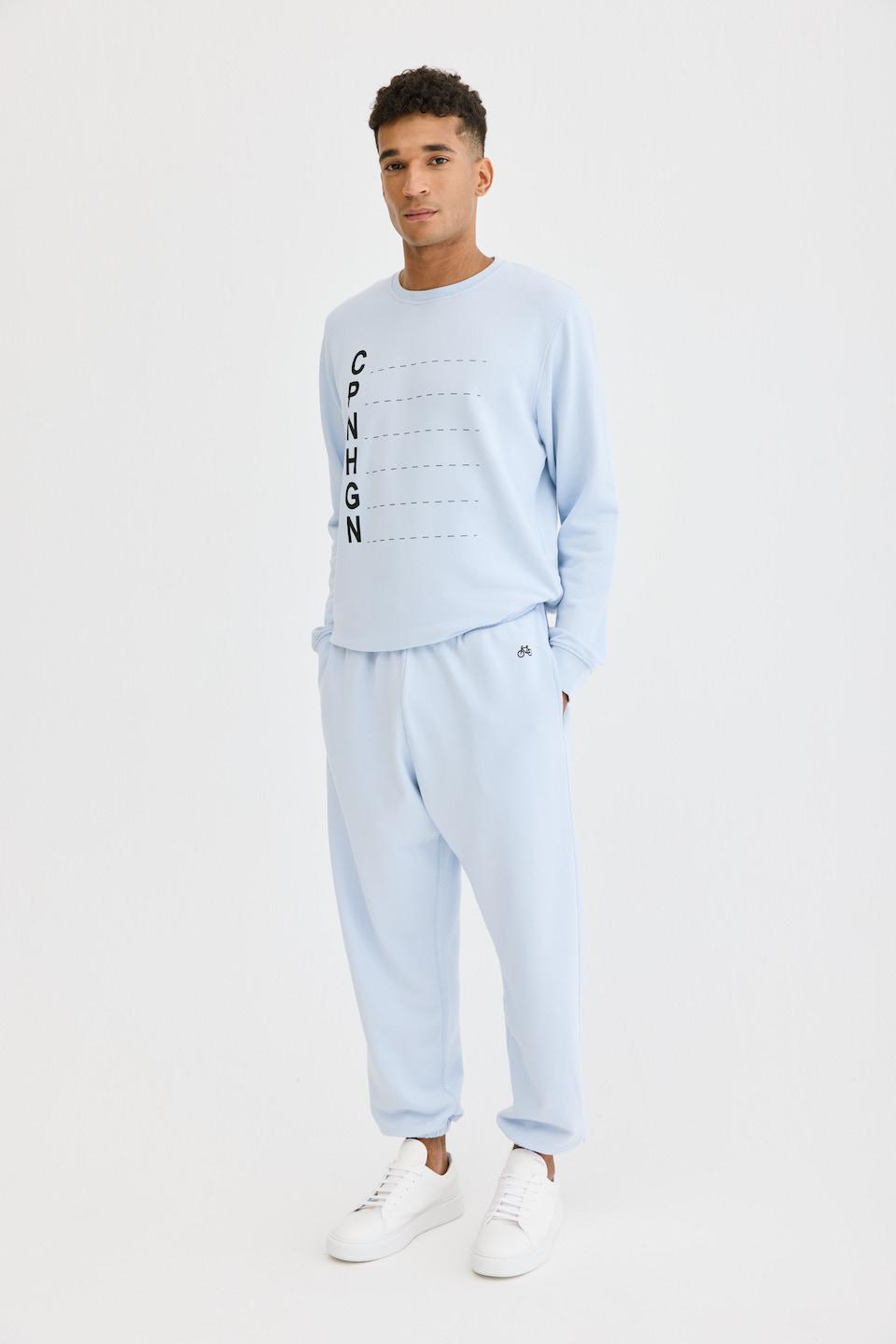 CPH Sweatpants 1M org. cotton light blue